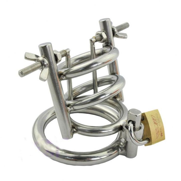 Stainless steel metal urethral chastity cage CB600 metal male chasity lock device torture urethral catheter urethral play