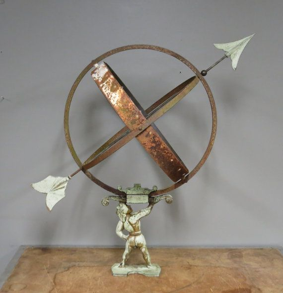Vintage Mid Century Swedish Armillary Sundial by stonehousevintage