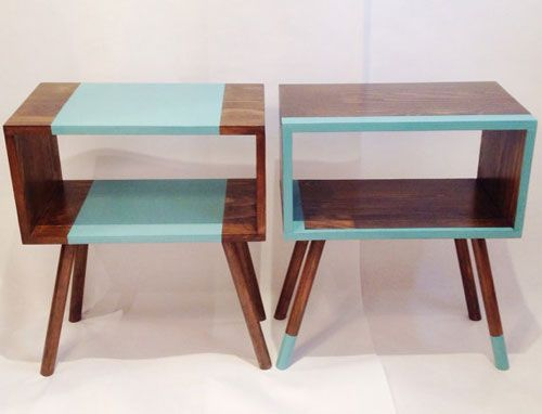 Handmade midcentury-style bedside tables by Vintage House Coruna Handmade Furniture - http://amzn.to/2iwpdj4