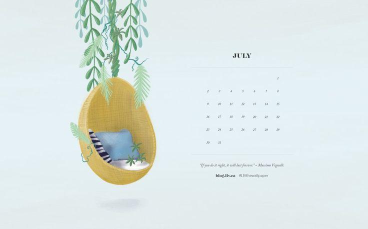 July Desktop Wallpaper