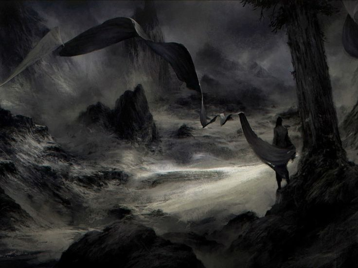 Dark landscape. #scary #illustration dark-fantasy-art ...