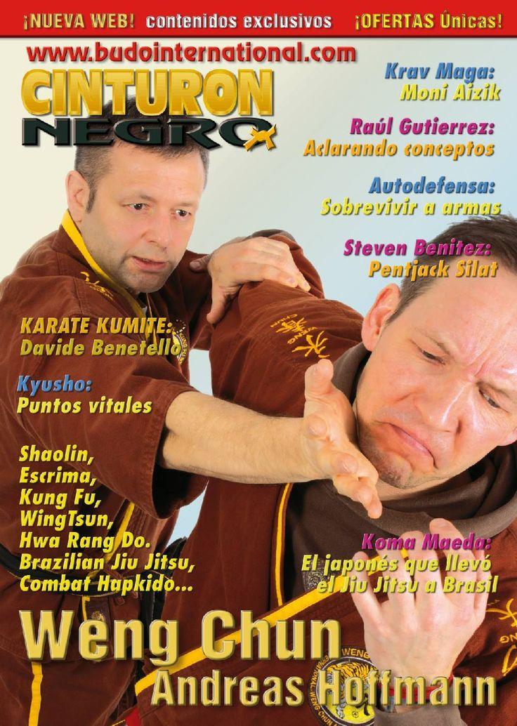 Weng Chun GM Andreas Hoffmann and Sifu Kay Dix on the cover of biggest Martial Arts Magazine Budo International/Cinturon Negro