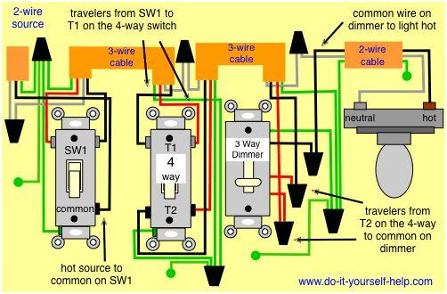 Wiring Diagram, 4 Way Dimmer