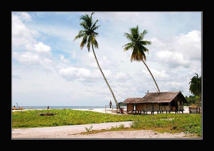 One great beach in Biak, Irian Jaya / West Papua
