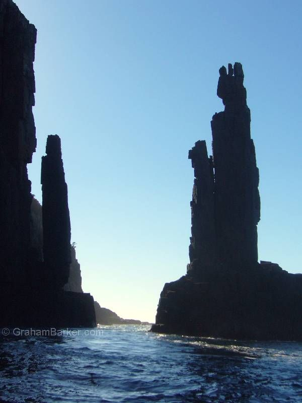 About to pass The Monument, Bruny Island, Tasmania