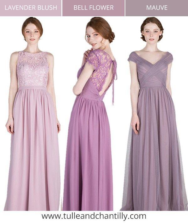 shades of purple bridesmaid dress color inspiration for 2018 #bridesmaiddresses #bridalparty #wedding #purplewedding