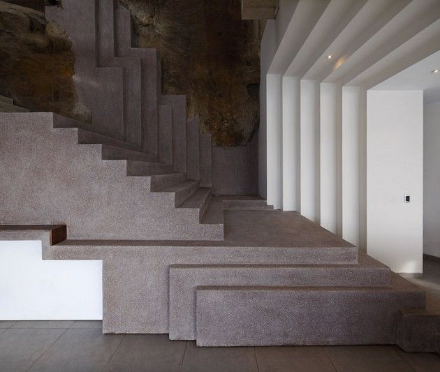 Stairs at Veronica Beach House, Lima, Peru by Longhi Architects.