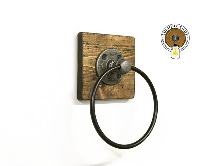 Handmade Rustic Towel Ring Towel Holder Hand Towel Ring Etsy In 2020 With Images Rustic Towel Rings Rustic Towels Industrial Towel Holder