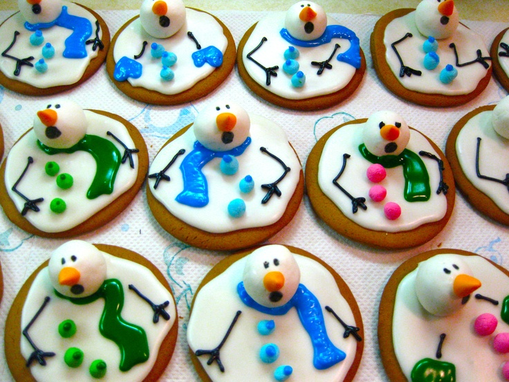 Melting Snowman Cookies! Too Cute!