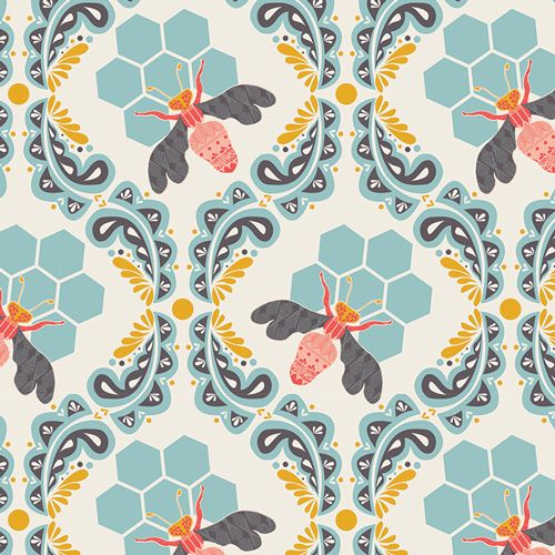 Sweet as Honey textile by Bonnie Christine