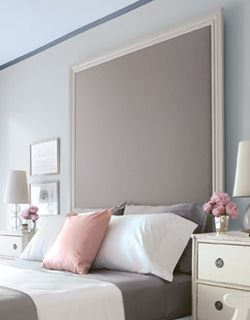 serence gray and pale pink bedroom color scheme