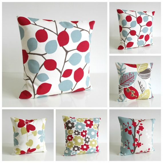 Scandi pillow cover red cushion cover throw pillow accent