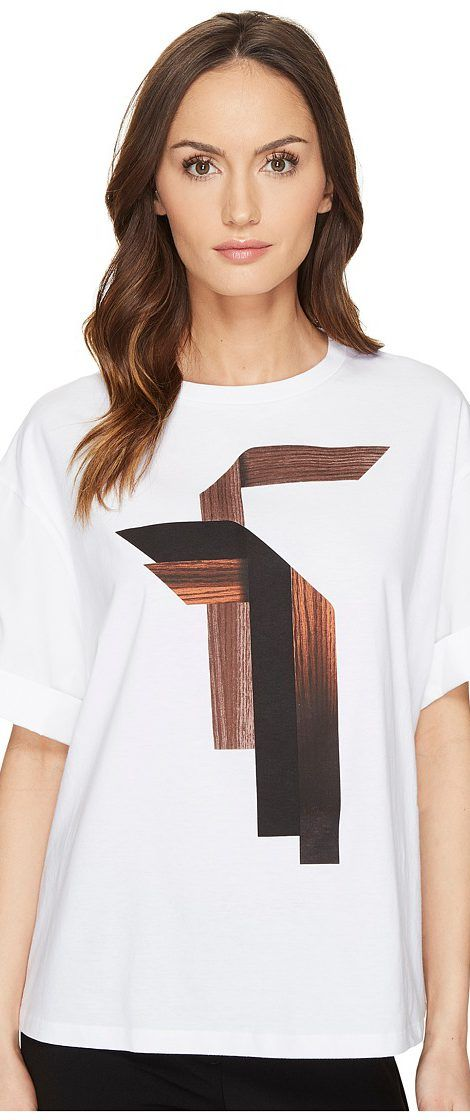 Neil Barrett Sanfor Stripes T-Shirt Jersey + Fine Pop. Stripes T-Shirt (White) Women's T Shirt - Neil Barrett, Sanfor Stripes T-Shirt Jersey + Fine Pop. Stripes T-Shirt, NJT47S E570S 3, Apparel Top Shirt, T Shirt, Top, Apparel, Clothes Clothing, Gift - Outfit Ideas And Street Style 2017