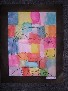 Kids Can Idea....Self Portraits inspired by Paul Klee | Simply Art Lessons for Kids