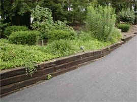 Building A Retainer Wall With Railroad Ties