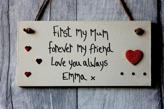 Mum Personalised Plaque Mum Best Friend Mothers Day Gift