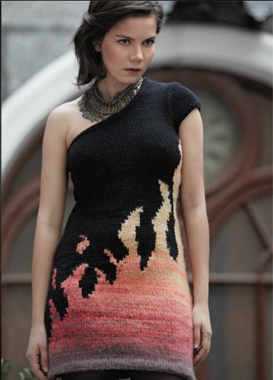 me wearing my own design from Fire Path collection FW 2012-13