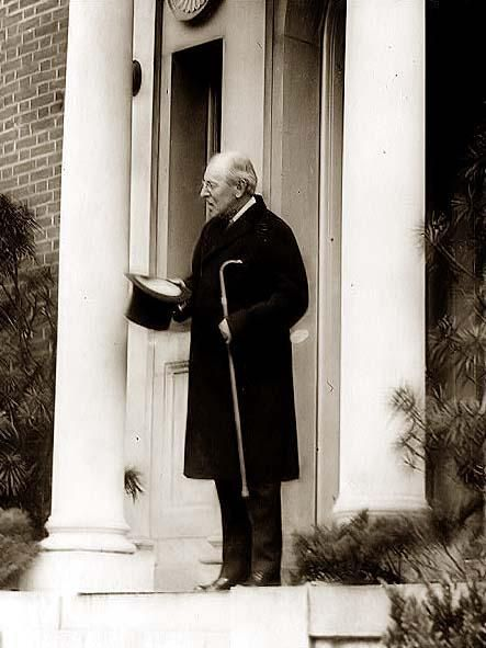 Armistice Day, 1922 - Woodrow Wilson standing in the doorway of his home. It was created in 1922.