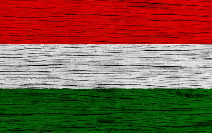 Download wallpapers Flag of Hungary, 4k, Europe, wooden texture, Hungarian flag, national symbols, Hungary flag, art, Hungary
