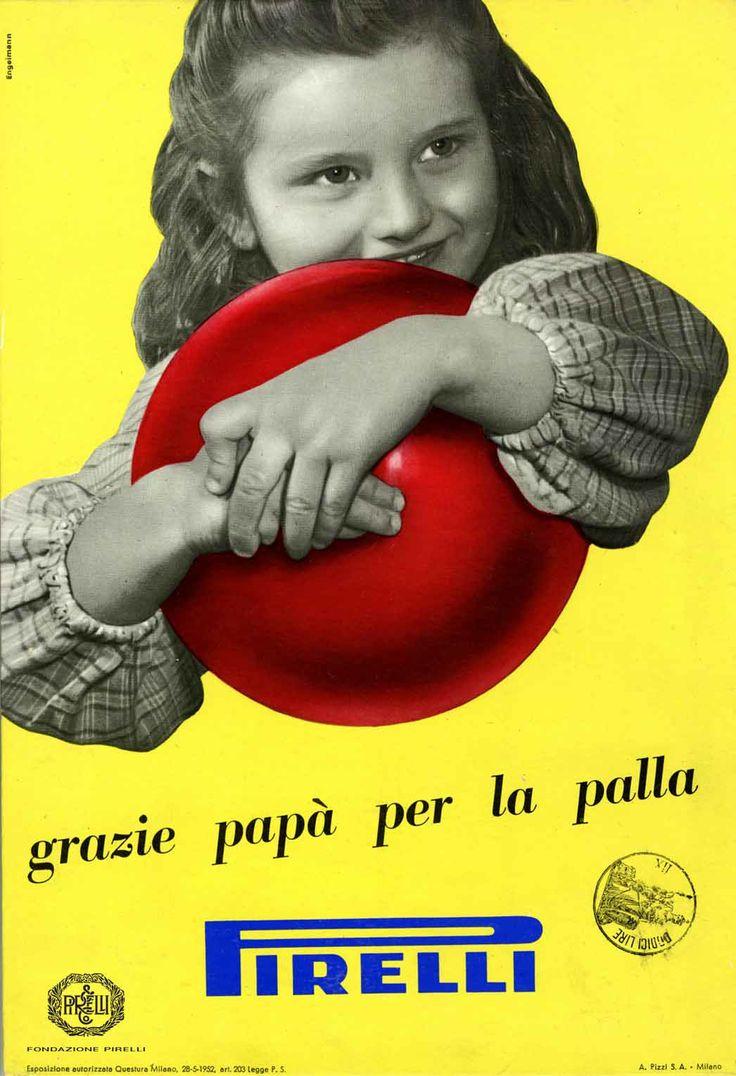 Pavel Michael Engelmann, advertisement for Pirelli rubber balls, 1952 http://www.fondazionepirelli.org