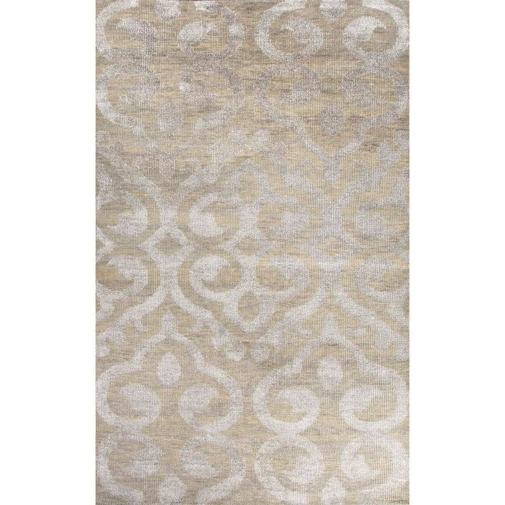 Juniper Home Jaipur Living Hand-Knotted Heritage Taupe/Gray Damask Rug Rug (2' x 3') (2X3), Grey, Size 2' x 3' (Silk, Abstract)