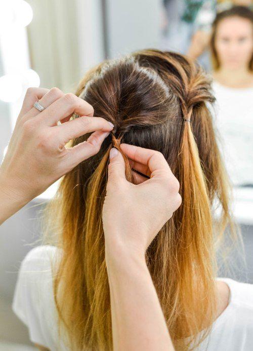 3 Schöne Brötchen Frisuren Für Feines Haar Ponytail Hairstyles For