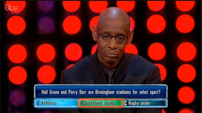 Look what came up on #quizzshow  'The Chase' Yesterday! #LoveTheDogs #dogracing