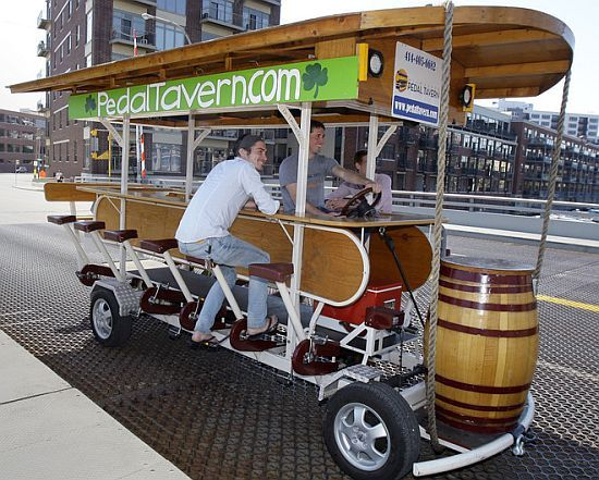 Only in Wisconsin can you drink while pedaling from bar to bar. LOVE IT!