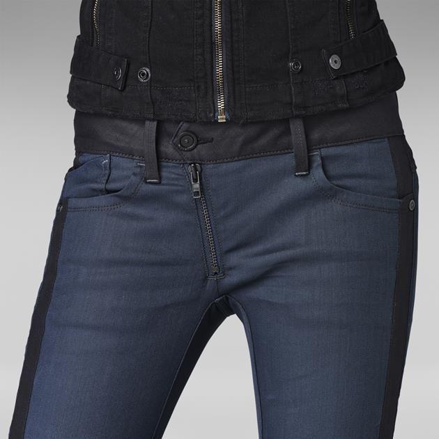 G-Star RAW | Women | Colour-jeans | Lynn Zip Skinny , Comfort Shalt Twill