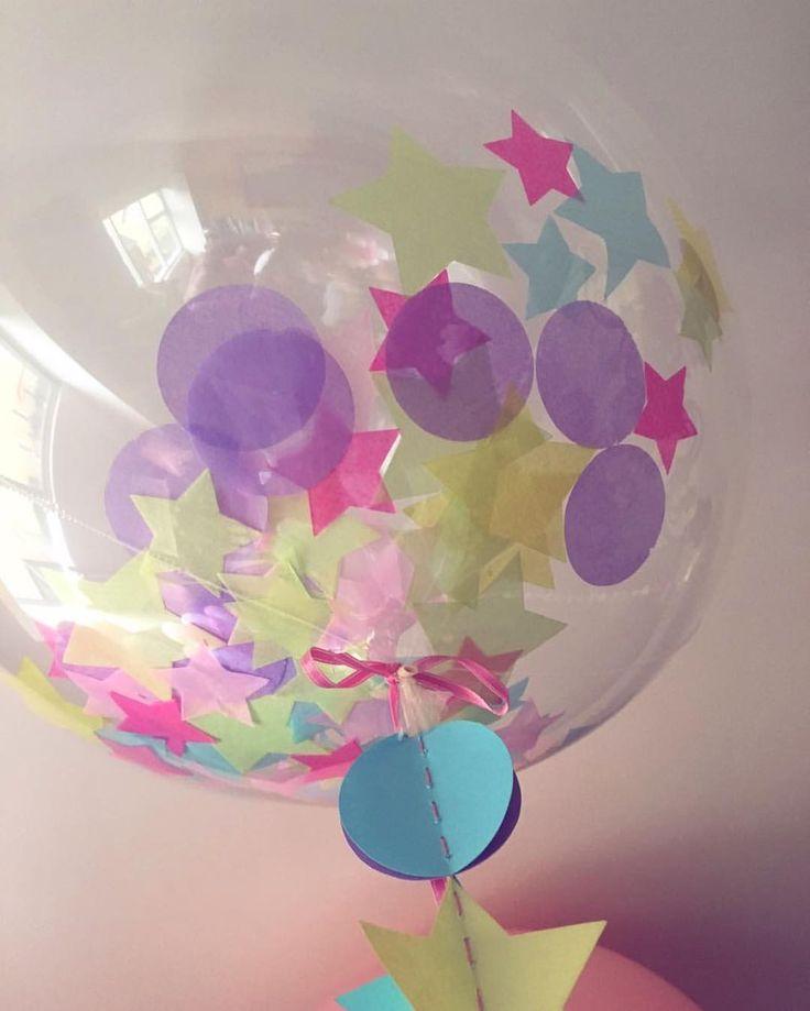 Bubble balloon ⭐️ #balloons #bubbleballoon #stars #babyshower #inglobentuevento #globos
