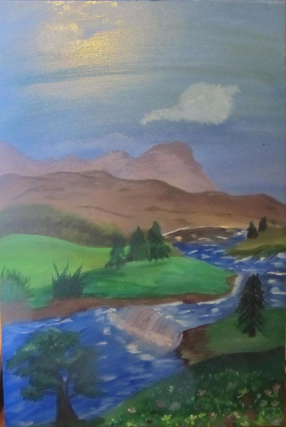 original Landscape oil painting 36x24 by RandomWishes32 on Etsy, $125.00
