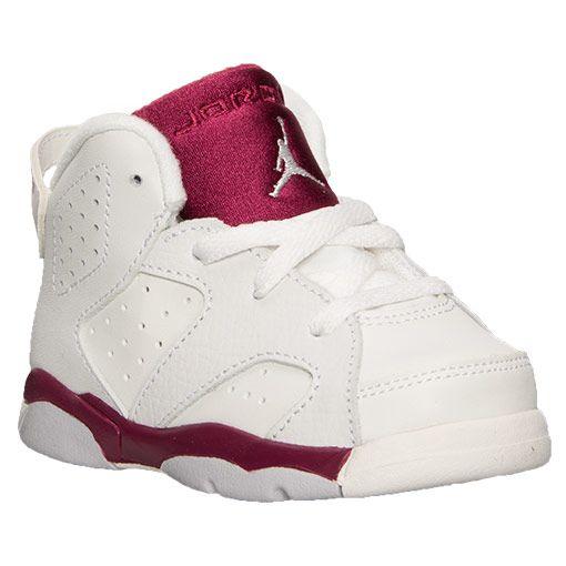 Toddler Air Jordan Retro 6 Maroon Basketball Shoes