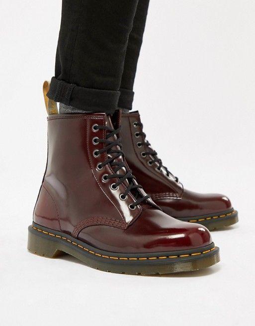 803e2e9653f Dr Martens vegan 1460 8-eye boots in red | Álomgardróbok | Boots, Dr ...