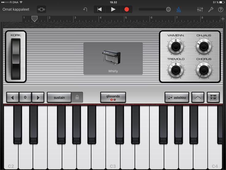 Malli 007: Musiikin tekeminen esim videoiden pohjalle  GarageBandin avulla.