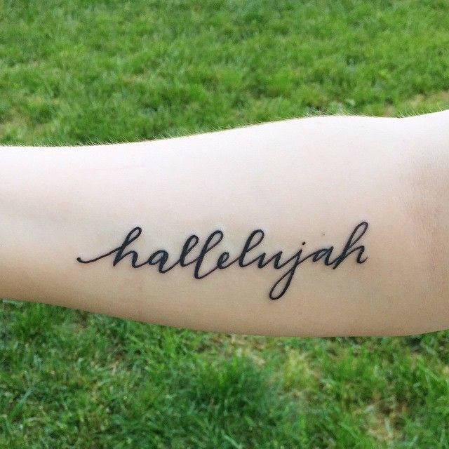 "custom calligraphy ""hallelujah"" tattoo // POPPYjack Shop"