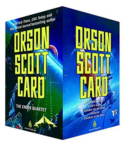 The Ender Quartet Boxed Set: Ender's Game, Speaker for the Dead, Xenocide, Children of the Mind (The Ender Quintet) by Orson Scott Card http://www.amazon.com/dp/0765362430/ref=cm_sw_r_pi_dp_R8UDvb09ZZV2D
