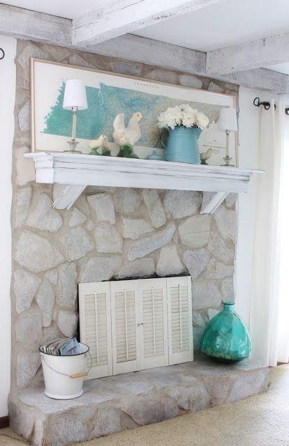 35 best Coastal Beach Fireplaces & Mantels images on Pinterest