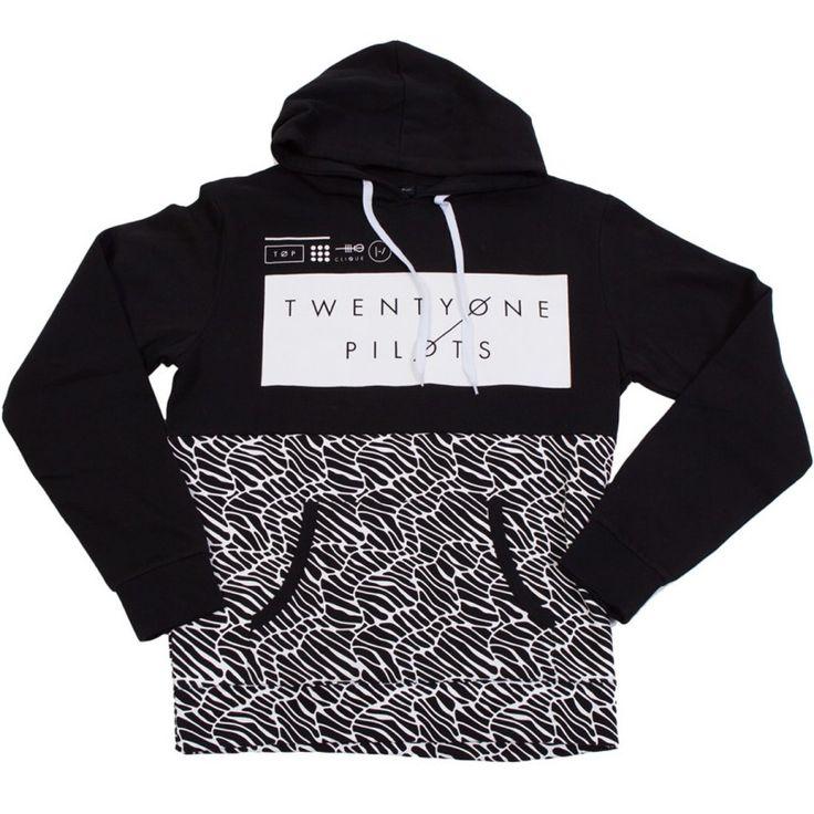 Half pattern pullover hoodie