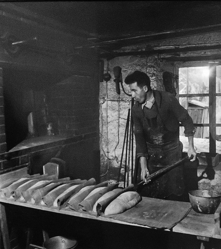 Robert Doisneau // The Alps - The baker, 1947 in Saint-Veran, France