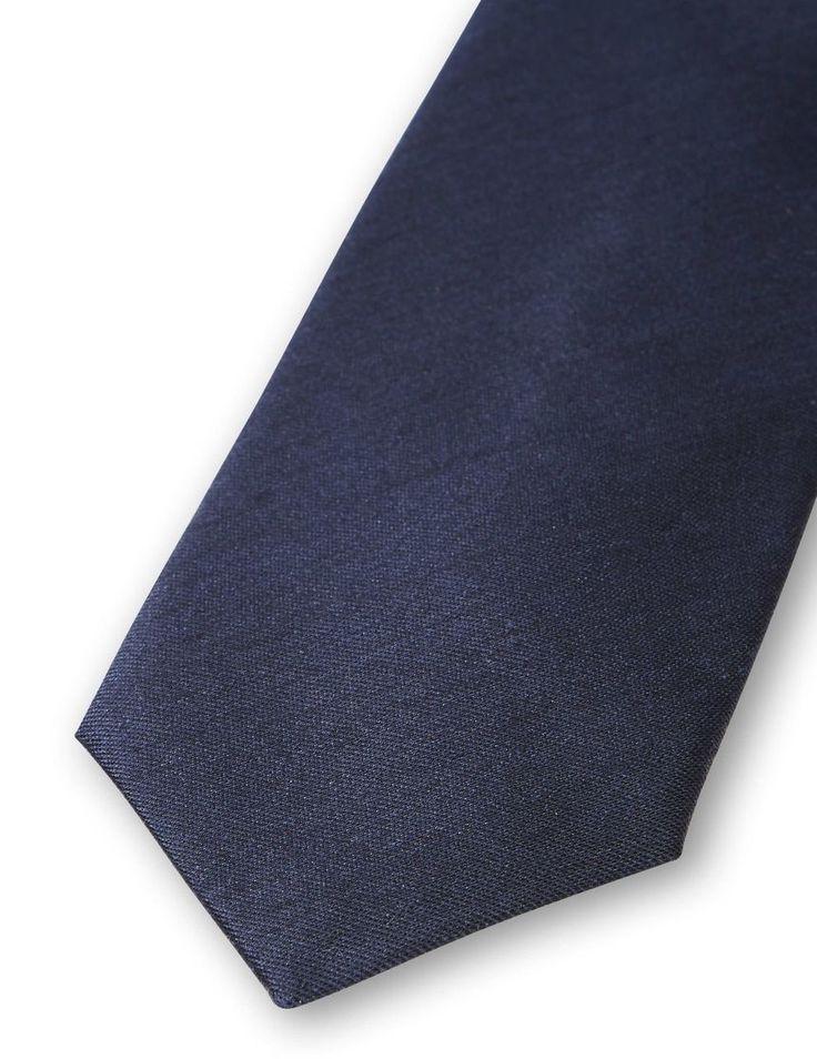 WATTEAU TIE-Men's tie in silk-wool blend. Plain woven tie with Tiger of Sweden logo on lining. Width: 7 cm. Made in Italy