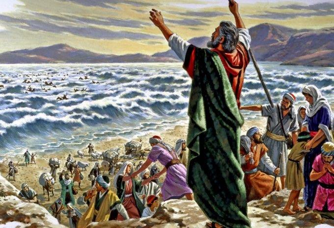 Resultado de imagem para israelites in the red sea