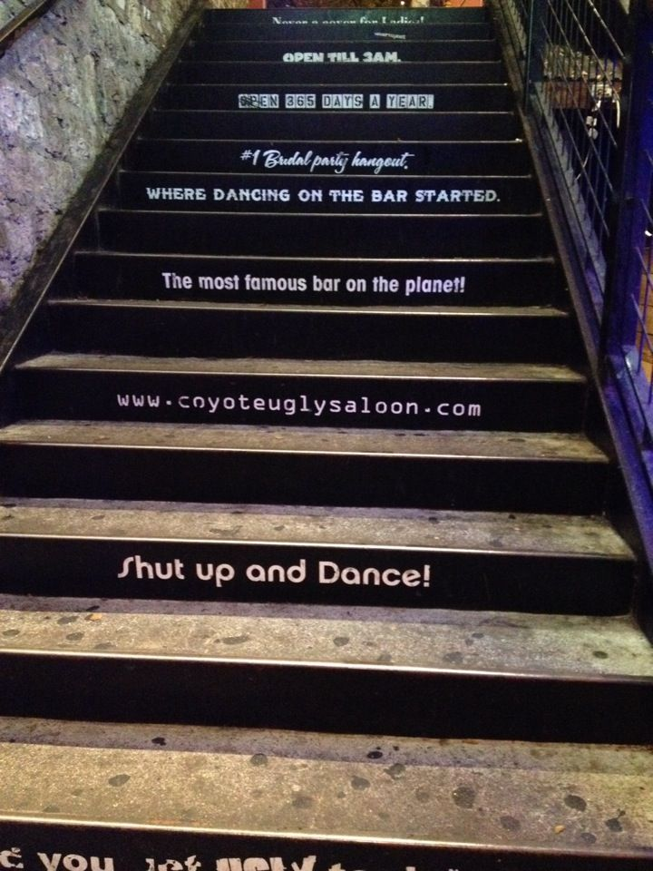 Coyote Ugly Saloon in Nashville, TN - Such a fun place. Visited here on our honeymoon - May 2014