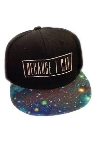 Galaxy Snapback. LOVE IT! I say this a lot too xD