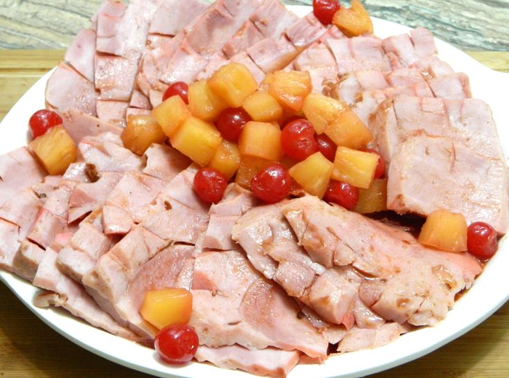Puerto Rican style Jamon con Piña or Baked Ham with Pineapple