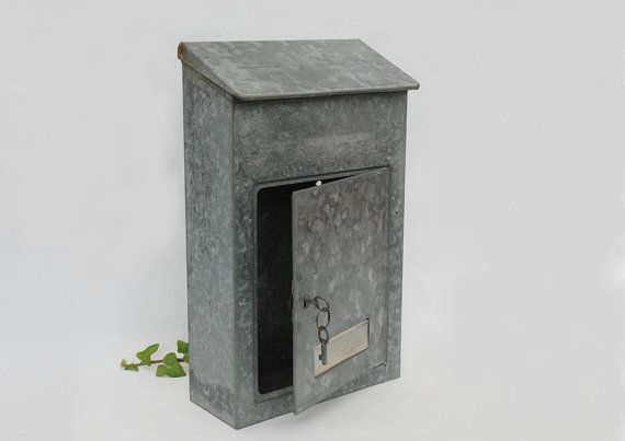 French galvanized mailbox  Locking mail box by FrenchTouchBoutique