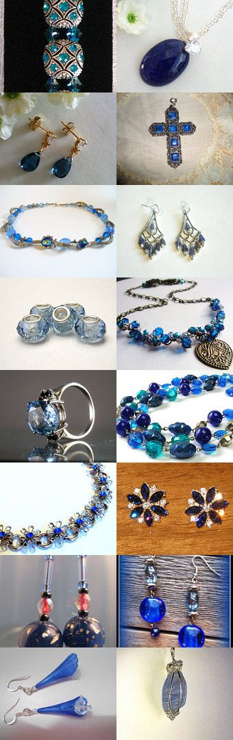 Blue Stars Of Heaven by Patti Turon on Etsy--Pinned with TreasuryPin.com