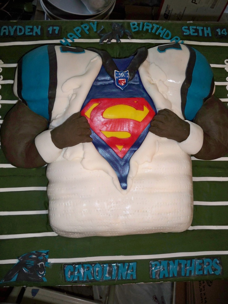 "Cam Newton ""Superman"" Jersey (all edible) by enchanted creations by melissa"