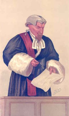 JUDGES #18:Mr Justice FIELD Antique Law Caricature.1887