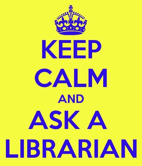 librarian 'keep calm'.    You can ask me :-)  I am a librarian.