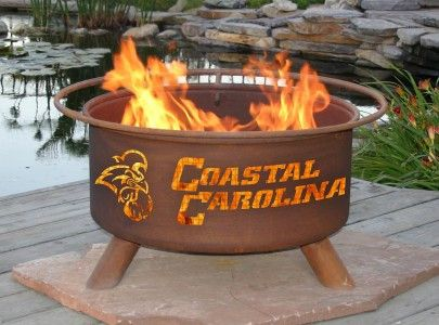 Fire Pit With Grill - Coastal Carolina University Chanticleers